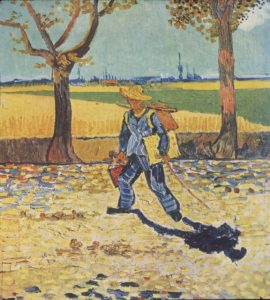 Painter on His Way to Work. August 1888.  [Publiek Domein], via Wikimedia Commons